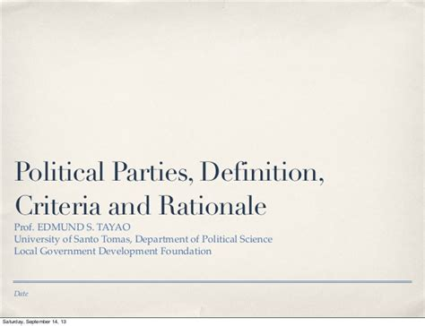 design criteria meaning political parties definition criteria rationale