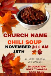 church chili dinner fundraiser template postermywall