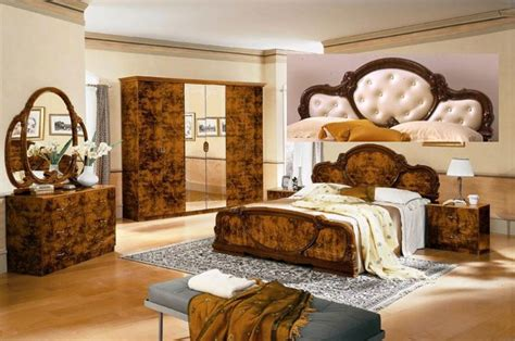 Complete Bedroom Set by Complete Set Serena Walnut Traditional Italian Bed