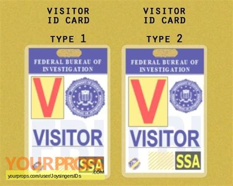 Visitor Id Card Template by Bones Fbi Visitor Pass Replica Tv Series Prop