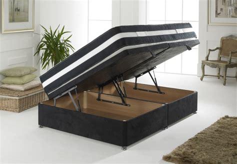divan ottoman bed 4ft6 luxury suede ottoman base ottoman storage divan bed