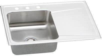 Elkay ILR3322L 33 Inch Drop In Single Bowl Stainless Steel