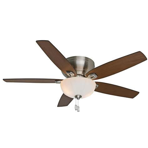 54 ceiling fan shop casablanca durant 54 in brushed nickel flush mount