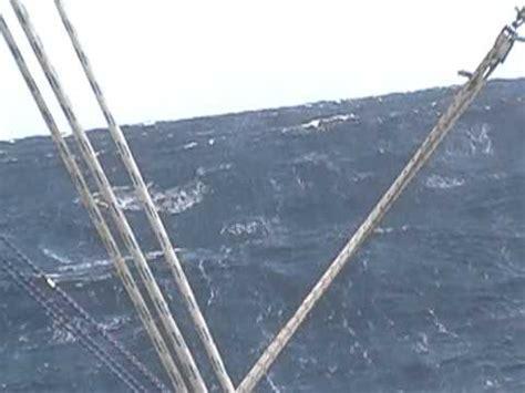 catamaran storm video towing warps 40 knots wind catamaran dean 40 lunatic storm