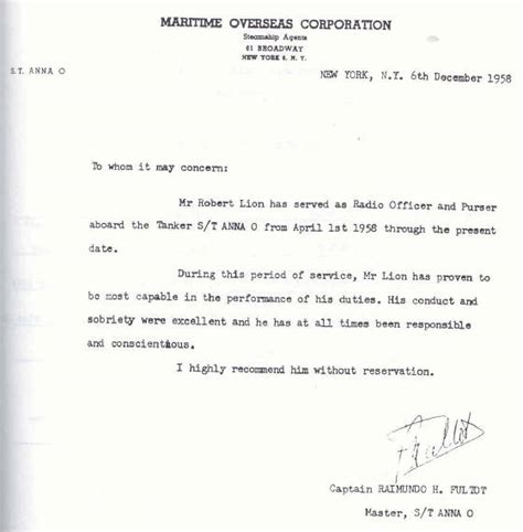 Promotion Letter For Seaman Memoirs Of A Radio Officer