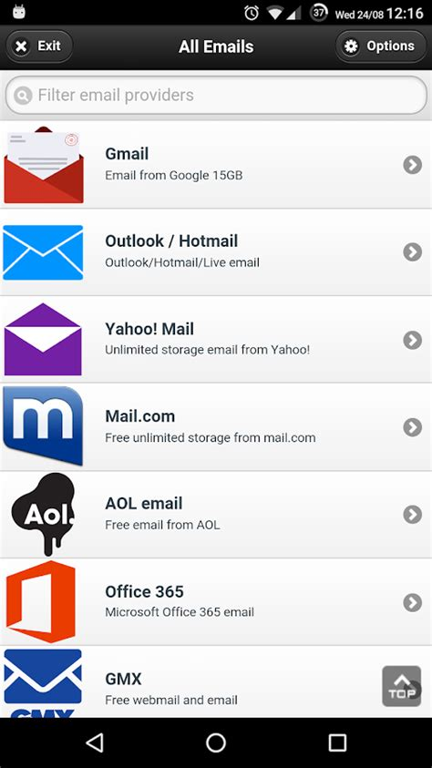 all email providers 4 0 3 apk android communication apps - Contact Provider Apk