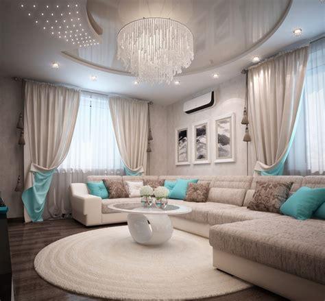 vorhã nge der decke deko ideen wohnzimmer in t 252 rkis einrichten 19 wohnideen