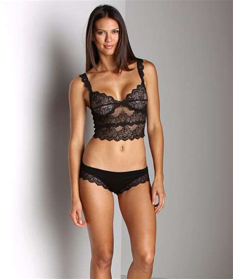 Bra Kemben Bra Camisol Kait 1 Lace Bra Tally 1885 only hearts so with lace cropped cami bra black 43871 free shipping at largo drive