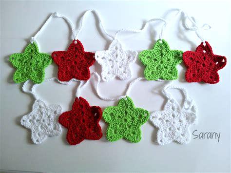 crochet pattern christmas tree bunting crochet christmas star bunting stars garland red
