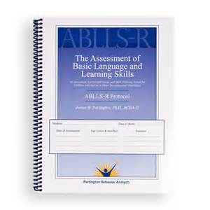 ablls r assessment of basic language and learning skills