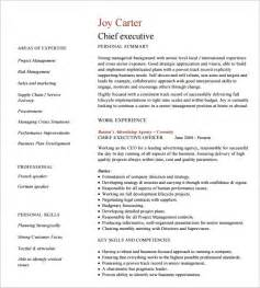 executive resumes templates 10 executive resume templates free sles exles