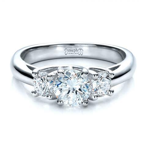 Custom Three Stone Engagement Ring #1458