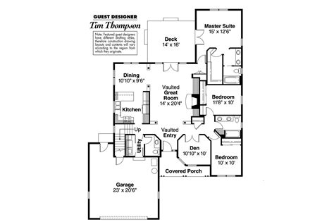 house plan with 3 bedroom 3 bedroom house plan with double garage ranch house plans