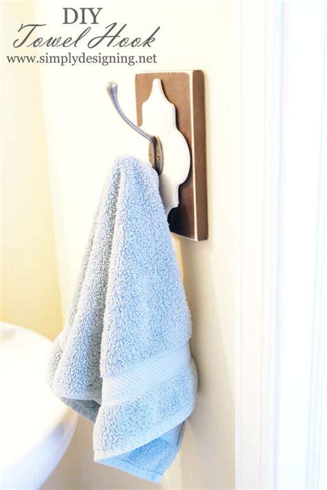 bathroom hand towel hooks diy towel hook