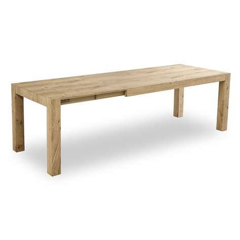 tavolo in legno naturale tavolo allungabile point house tola 140 in legno di rovere