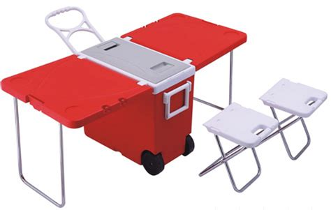 rolling cooler with built in picnic table rolling cooler with built in picnic table