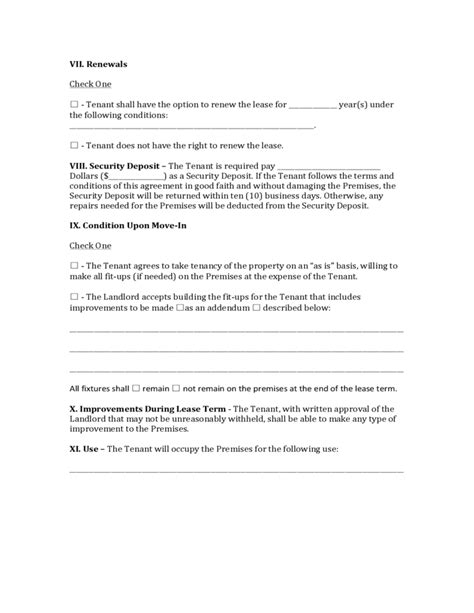 Nevada Commercial Lease Agreement Free Download Nevada Residential Lease Agreement Template