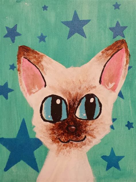 diy cat painting angela cat portrait paintings