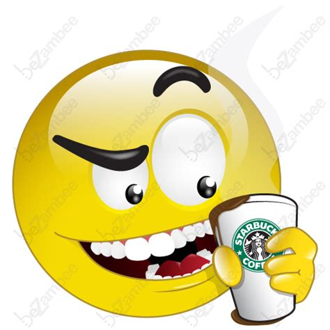 8 i need coffee emoticon images smiley emoticon drinking