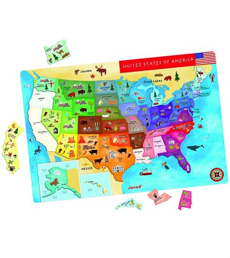map usa magnetic janod magnetic usa map