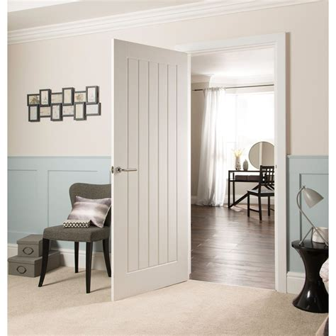Cottage Interior Doors Cottage Moulded Primed Woodgrain Door 686mm