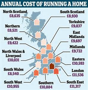 where is the cheapest place to live why it s 163 3 000 a year cheaper to live in the north daily mail online