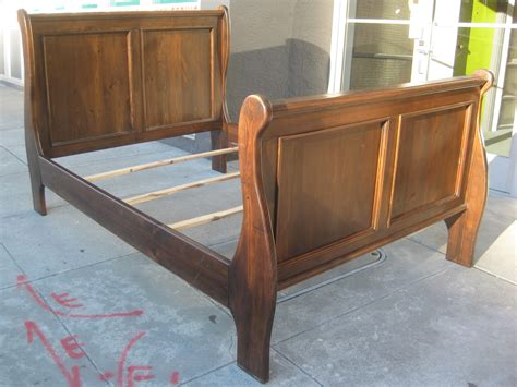 full size sleigh bed uhuru furniture collectibles sold full size sleigh