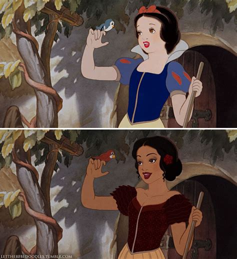 Different Is Beautiful artist shows how disney princesses would look as different