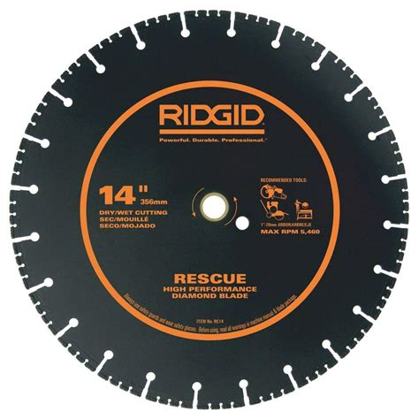 ridgid 14 in bandsaw r474 the home depot ridgid 14 in rescue diamond blade hd rc14 the home depot