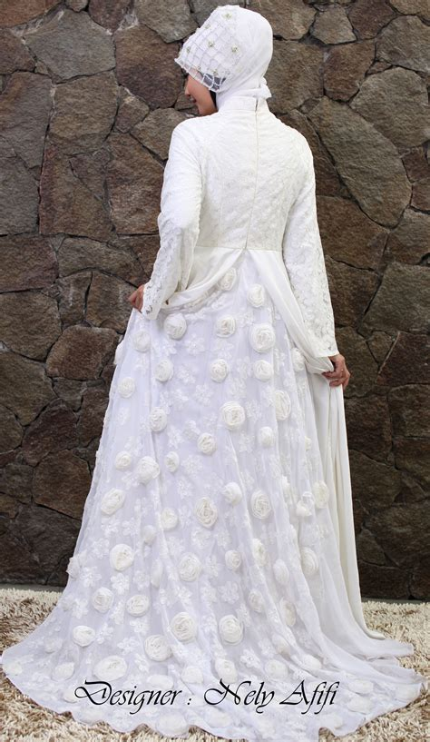 Bridal Dress Kebaya Pengantin Ekor Gown Wedding Prewed Prawed Modern rumah jahit surabaya archives wedding dress muslimah