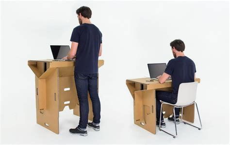 Desk For Standing And Sitting Cardboard Design 10 Cardboard Furniture And Gadget Ideas