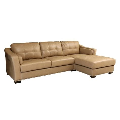 beige leather sectional abbyson living margot leather sectional in beige sk 2313 crm