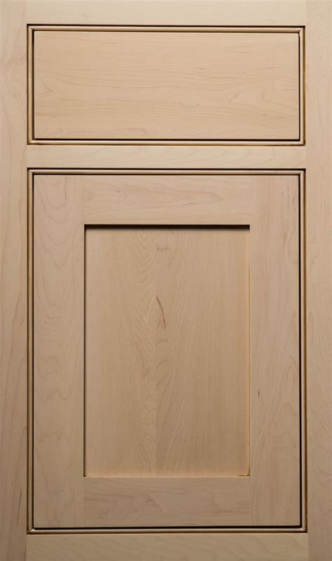 beaded frame with square edge flat panel cabinets in