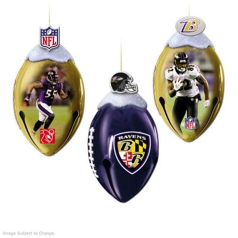nfl baltimore ravens footbells ornament collection