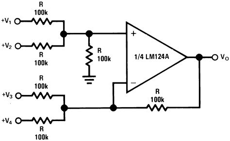 lm324 application circuit diagram lm324 op circuits wiring diagrams wiring diagram schemes