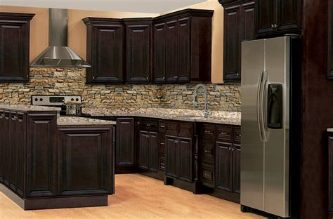 Chocolate Kitchen Cabinets Rittenhouse Raised Panel Chocolate Solid Wood Cabinets