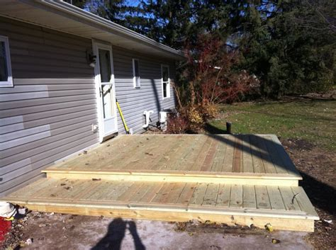 Attached Garage Designs by Framing What Are The Best Practices For A Low Deck Built