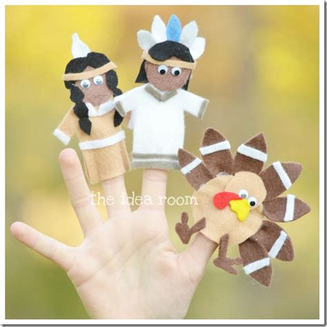 15 Turkey Crafts For Kids Thanksgiving Finger Puppet Templates