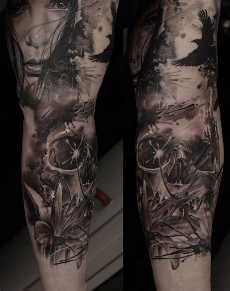 skeleton sleeve tattoo designs skull by dmitriy samohin design of tattoosdesign