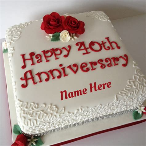 Wedding Anniversary Name Edit by Write Your Name On Anniversary Cakes Pictures Edit