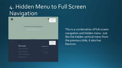 design menu full screen 6 navigation bar design ideas for web designers