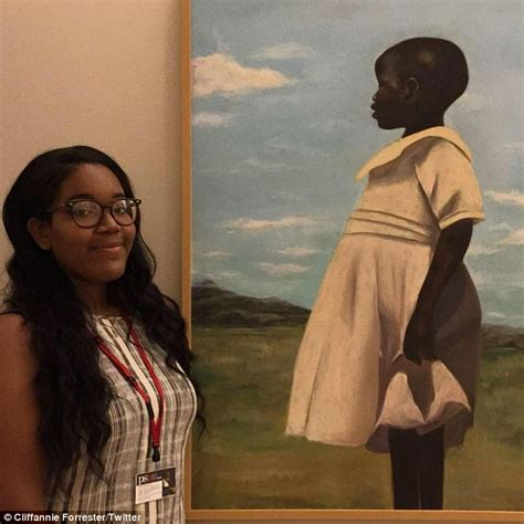 cliffannie forrester high school student is overjoyed after her painting goes