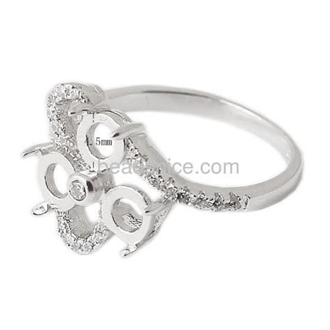 wholesale silver ring cirzon setting for wholesale ring