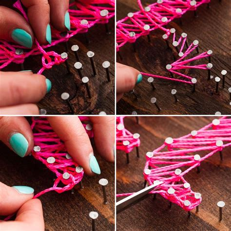 How To Make Nail And String - live creatively another spin on nail string