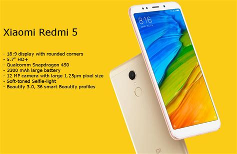 B1 Xiaomi Redmi xiaomi redmi 5 huella dactilar 5 7 pulgadas 4gb ram 32gb rom snapdragon 450 octa n 250 cleo 4g