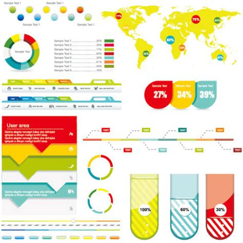 infographic design elements in vector 30 templates vector kits to design your own infographic
