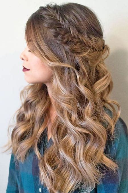 hairstyles cascading curls 20 gorgeous side hairstyles for prom night