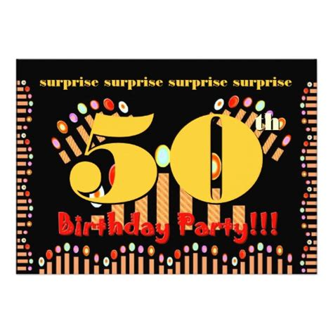50th surprise birthday party invitation template 5 quot x 7