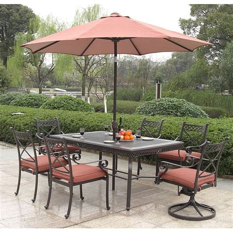 Overstock Patio Furniture Sets Santa Outdoor 7 Dining Set Outdoor Dining Set Santa And Outdoor Dining
