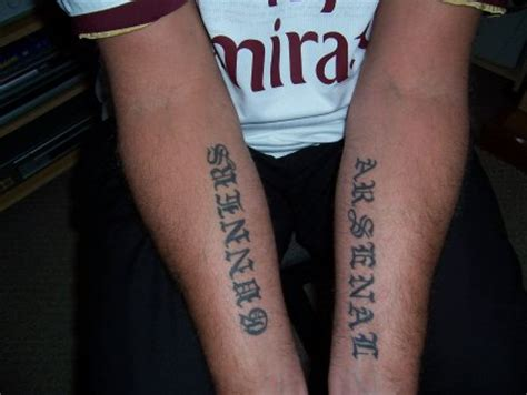 arsenal tattoo arsenal fc afc the gunners football club tattoos
